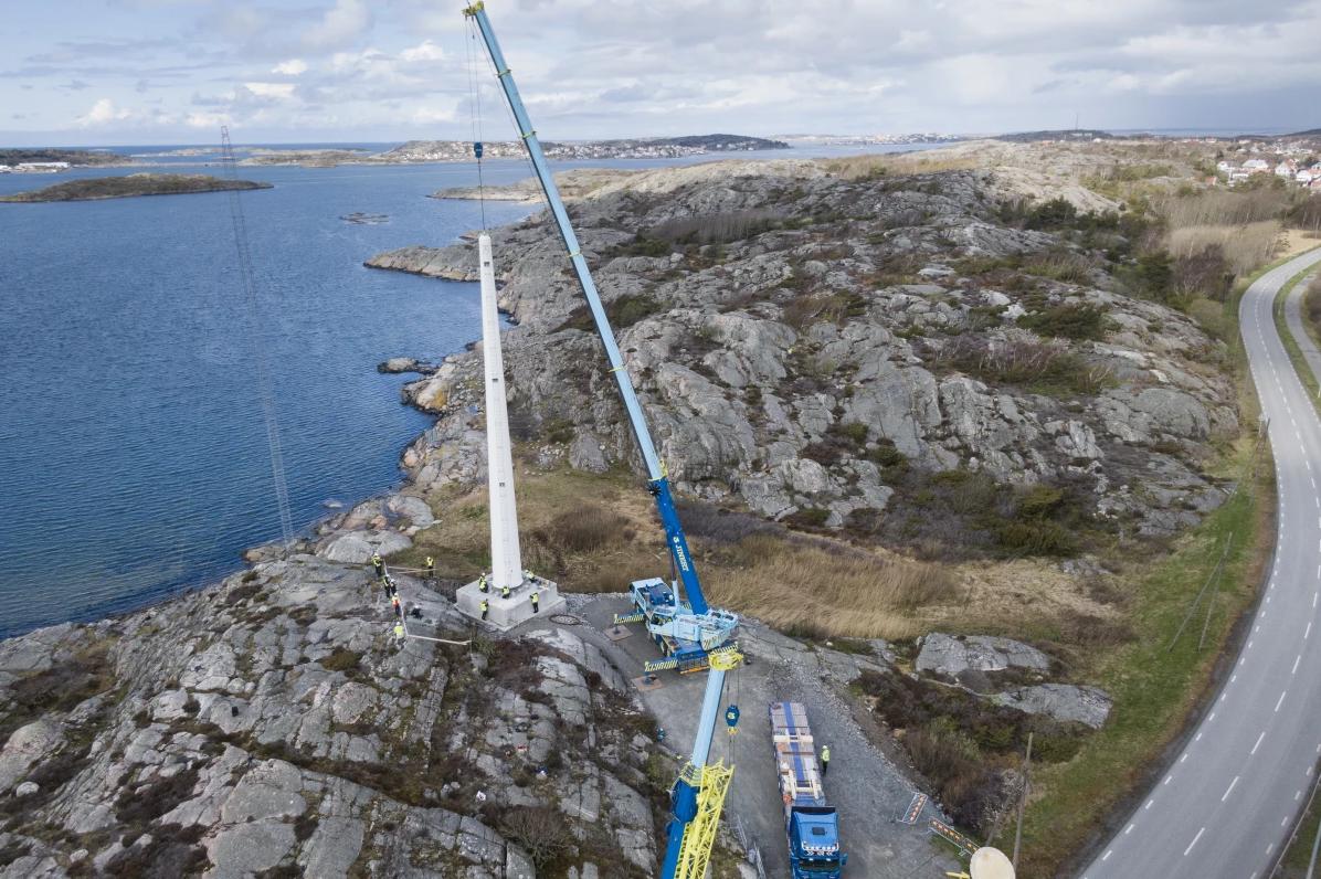 برج چوبی توربین بادی سوئدی