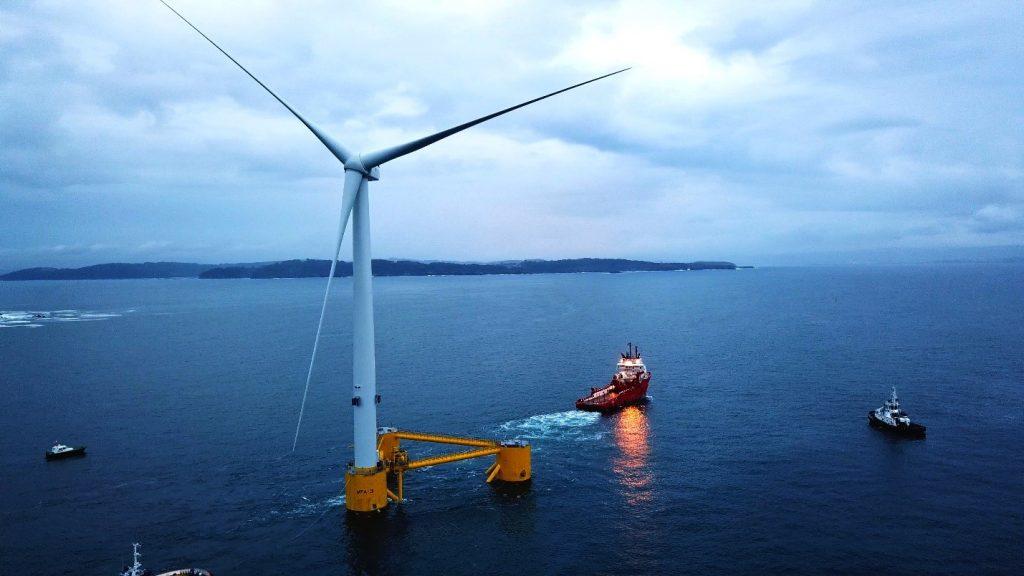 توربین بادی شناور نیمه غوطه ور WindFloat Atlantic