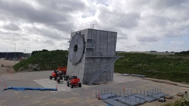 بزرگ ترین استند آزمایش پره توربین بادی جهان را در اسپانیا